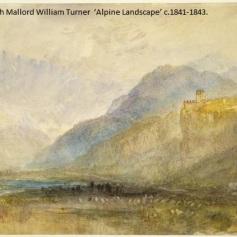 12 - Joseph Mallord William Turner - Alpine Landscape