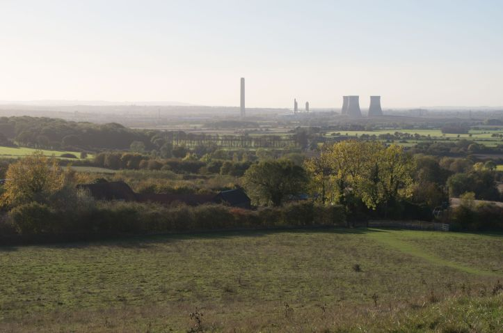 Didcot from Wittenham Clumps-1