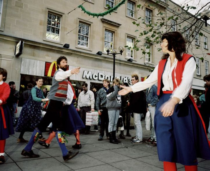 GB. England. Morris dancers. From 'The Cost of Living'. 1986-89.
